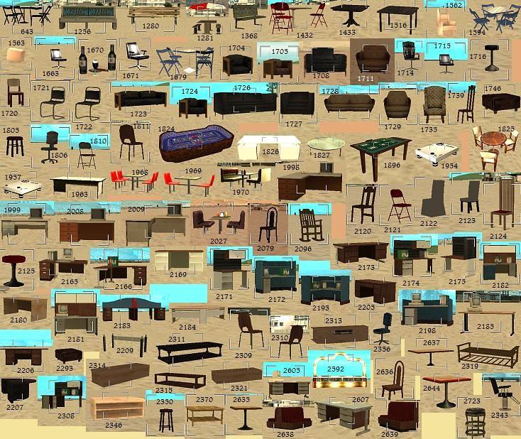 List Of Mta Objects قائمة اجسام ام تي اي Arabic