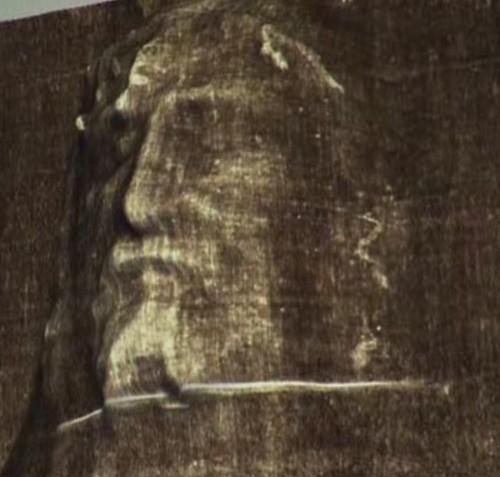 Cara del síndone en 3D