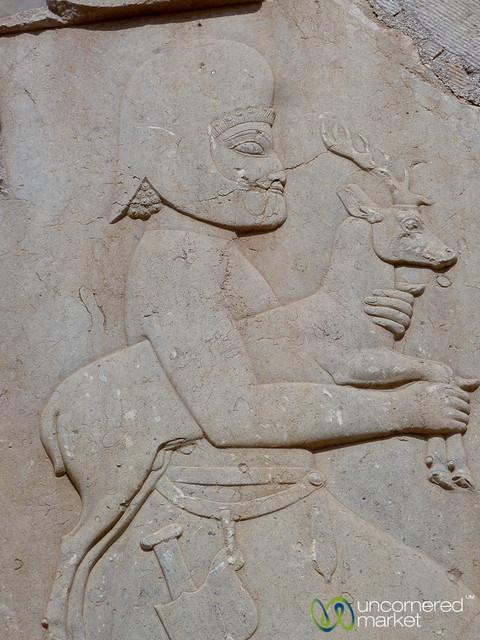 Persepolis Relief, Soldier with Deer - Iran