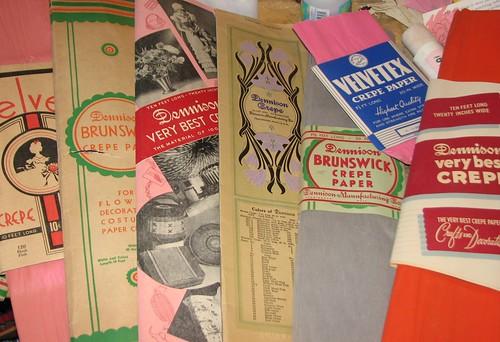 Vintage Crepe Paper 005