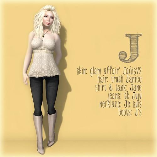Alphabet Challenge - J