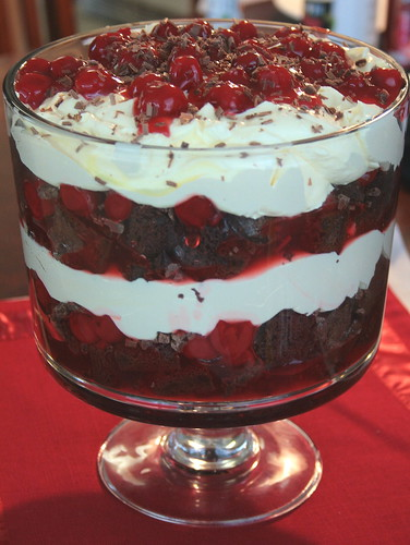 Jolts & Jollies: Black Forest Trifle with Duncan Hines and Comstock ...