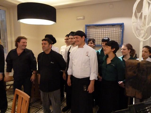 El Equipo de cocina del Sagardi de Euskal Etxea
