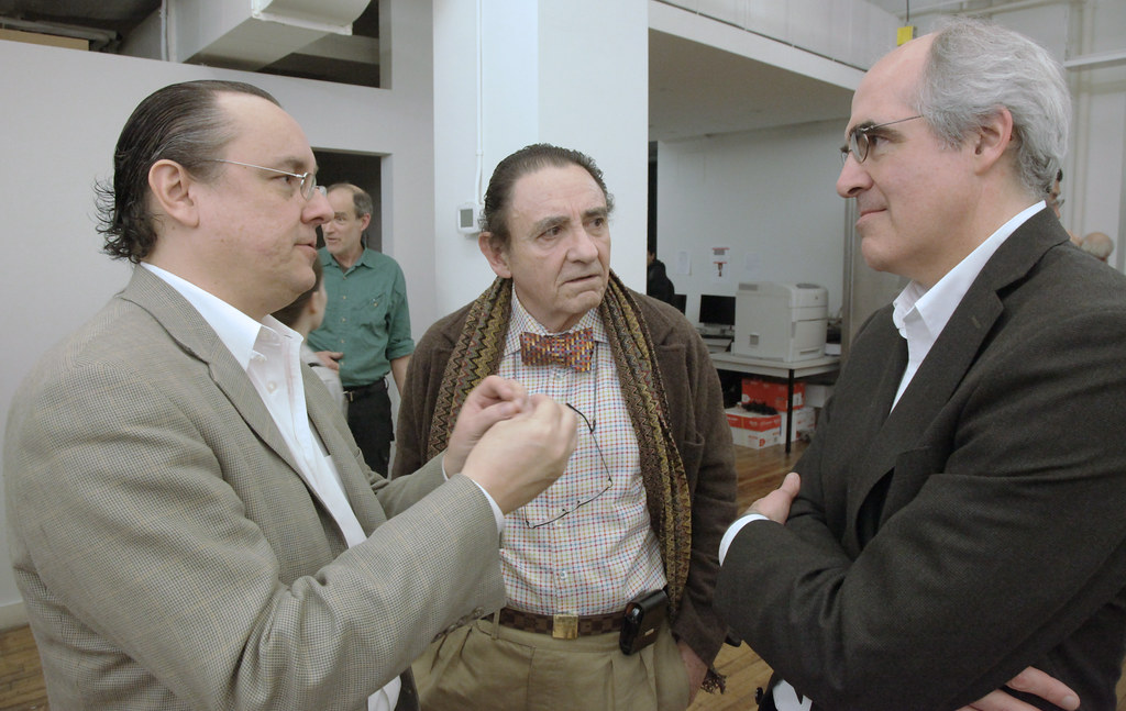 Lecture guests with Cornell architecture chair, Mark Cruvellier (right).
