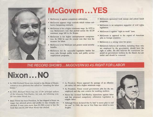 George Mcgovern 1922 2012 >> McGovern vs Nixon pamphlet (1972) | Flickr - Photo Sharing!