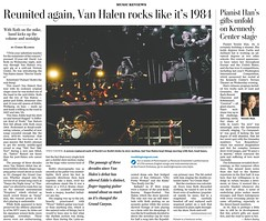 Valen Halen Washington Post Tear Sheet