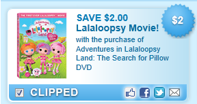 Adventures In Lalaloopsy Land Dvd Coupon