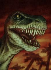 tyrannosaurus, fictional character, dinosaur, illustration,