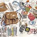 111007 What is in my bag tonight by Liz Steel Art