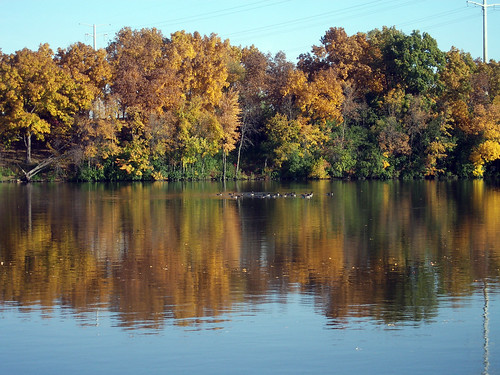 autumn fall nature water wisconsin