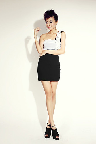Trendy &Charming Single-shoulder Pleats Dress3