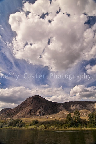 blue sky cloud mountain nature clouds river landscape cloudy fluffy kellycoster