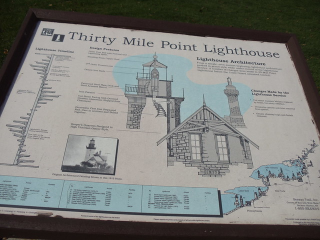 Informational Plaque for the Thirty Mile Point Lighthouse