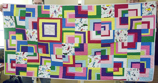 Given away! Fly away home, little quilt!  Full story at domesticat.net/quilts/fledgling