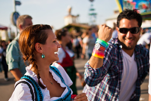 At Oktoberfest you'll learn how to party. Source: flickr