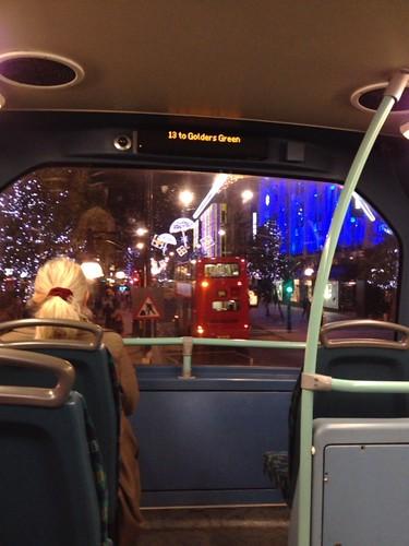 オックスフォードストリートをロンドンバスから