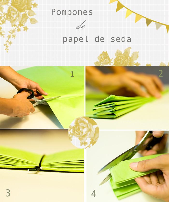 Pomp n de papel seda sallie ford the sound outside - Pompones con papel de seda ...