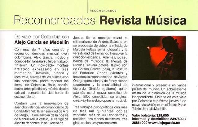 Revista Música Recomendados Enero - Marzo de 2009
