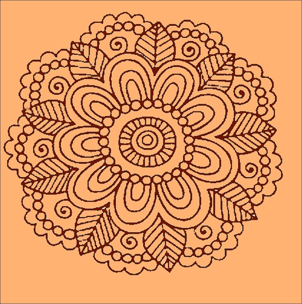 henna tattoo motif - a photo on Flickriver