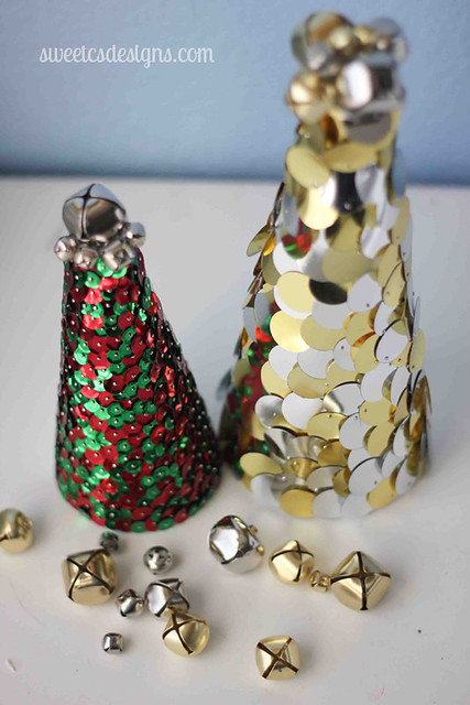 Sequin trees by sweetcsdesigns.com are an easy craft you can make!