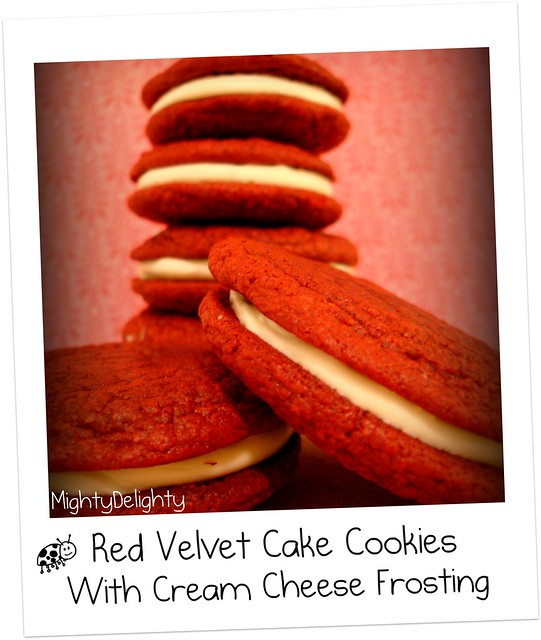 Red Velvet Cookies With Cream Cheese Frosting Recipe — Dishmaps