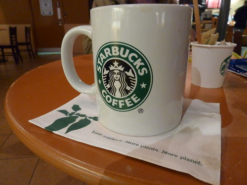 Starbucks mug with tea
