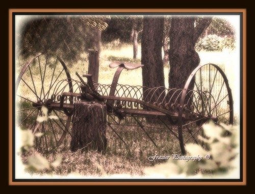 Ye ole' Hay rake by Enjoy the journey...Not the Destination~