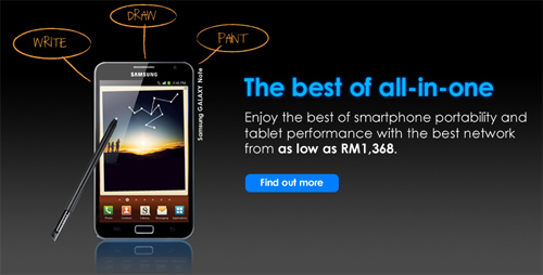 Get your Samsung Galaxy Note with Celcom now!