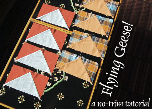 Flying Geese no-trim Tutorial
