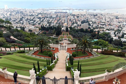 The Baha'i Gardens cascading down the hillside