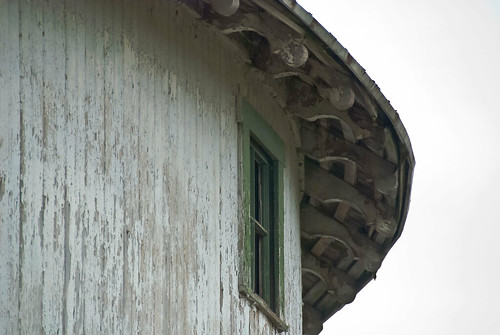 Roof detail on round barn