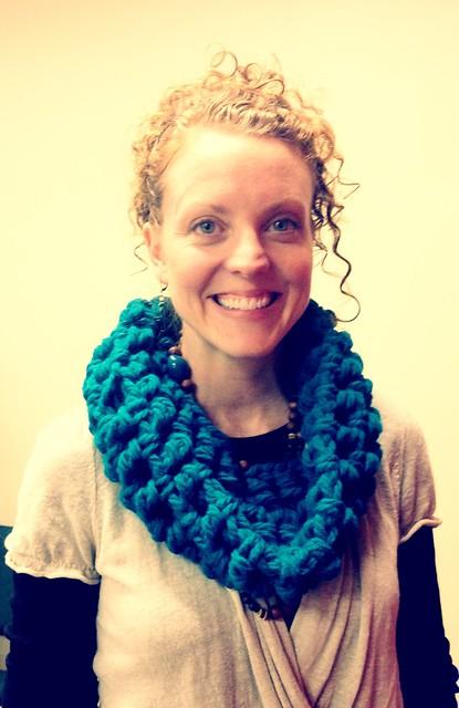 Crochet cowl scarf