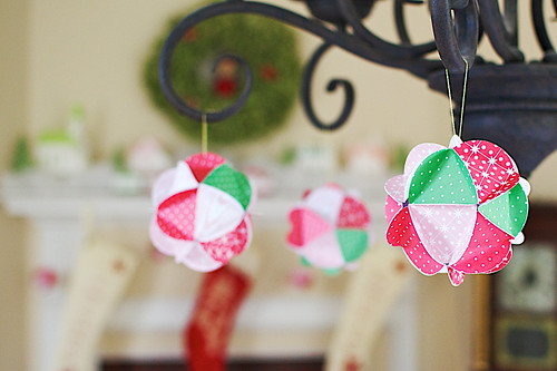 Paper ball ornaments.