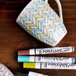 Hand Painted Chevron Mugs