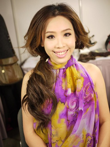 After makeup at the HK Asian-Pop Music Festival..