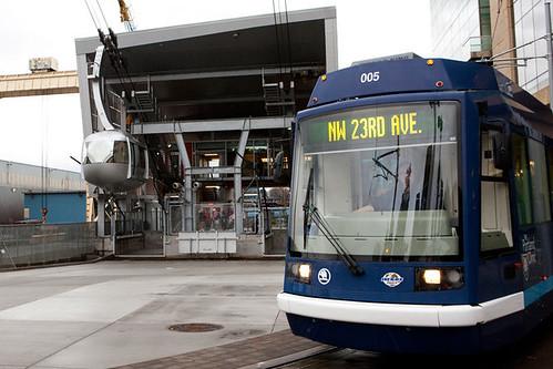 Portland Aerial Tram and Portland Streetcar