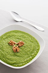 Broccoli Soup with Walnuts