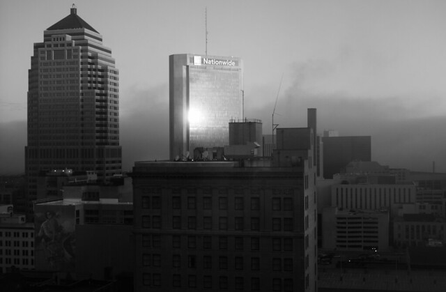 North of Downtown b+w