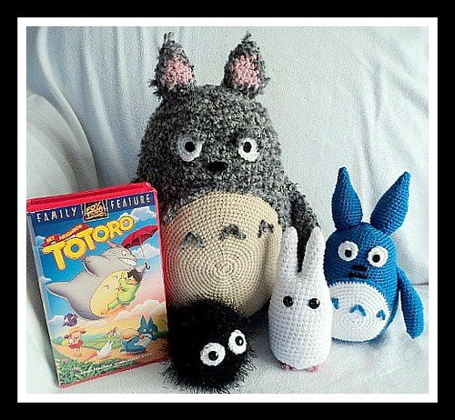 Crochet Totoro by Sharon Ojala's Flickr