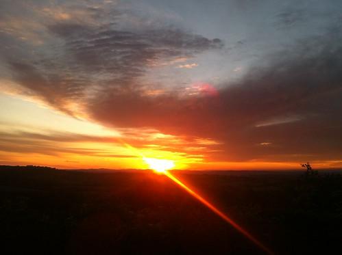 red sky orange sun sunshine clouds sunrise herefordshire