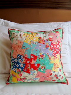 Patchwork Pinwheel pillow