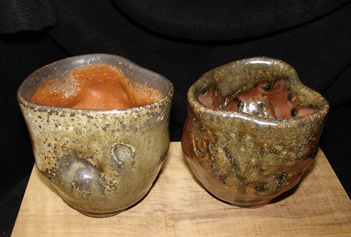 Wood fired tea cups