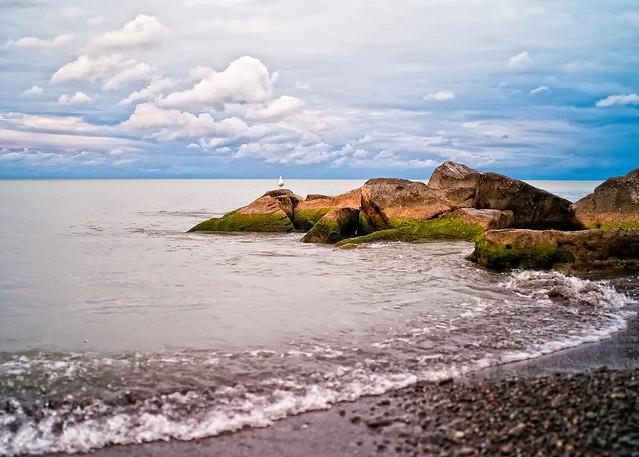 Lake Ontario from Skyway Park Beach in Hamilton
