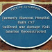 Bluecoat Hospital Plaque