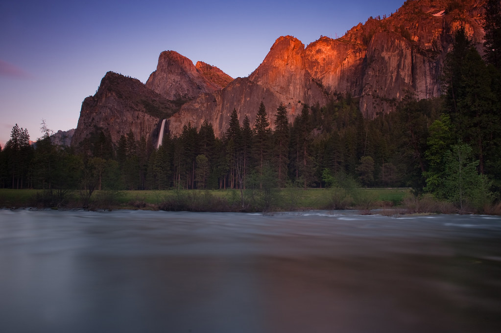 The Bridalveil in last light