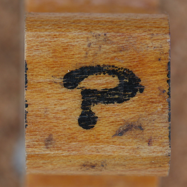rubber stamp handle question mark | Flickr - Photo Sharing!