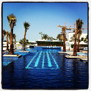 The pool at the Fairmont Hotel in Abu Dhabi