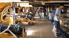 hms victory 24lb ers starboard side