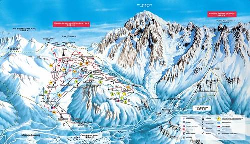 Courmayeur - mapa sjezdovek