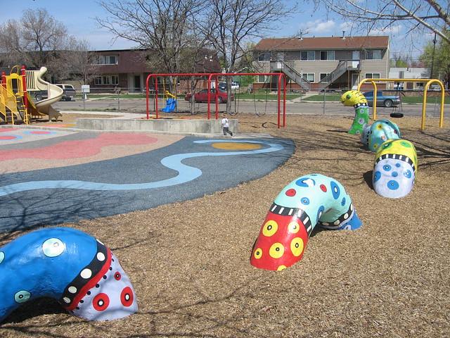 Lafayette Elementary School playground - 212.3KB